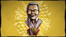 Retrato ilustrado de Leandro Díaz por Cristhian Beltrán