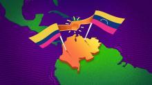 Mapa de Colombia y Venezuela.