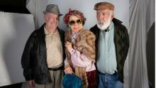 Foto de estudio de los actores de antaño en La de Troya