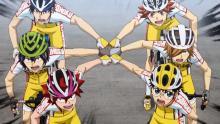 Imagen de la serie Yowamushi Pedal.