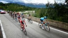 Ciclistas del Giro de Italia durante la etapa 10