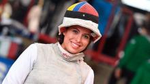 Saskia Loretta van Erven García, esgrimista colombiana / Instagram Saskia Loretta van Erven García