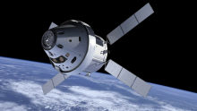 Imagen de un satélite orbitando la Tierra