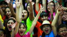 Niños coristas que cantarán en Celebra la música