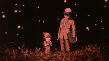 """Seita y su hermana Setsuko en """"La tumba de las luciérnagas"""""""