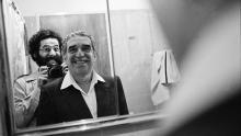 Vasco Szinetar y Gabriel García Márquez, Caracas, 1982.