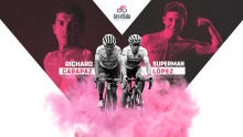 Giro de Italia revive el duelo Superman vs. Carapaz