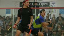 Miguel Ángel Rodríguez, jugador de squash colombiano / Tomada de www.themotorcityopen.com