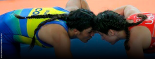 Andrea Olaya superó el estereotipo de la lucha / Comité Olímpico Colombiano