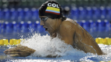 Jorge Murillo, nadador colombiano / Facebook Jorge Murillo