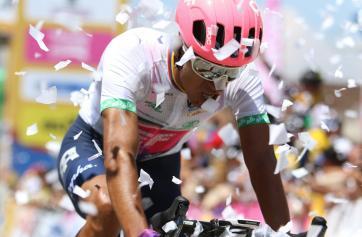 Daniel Martínez ganó su primera carrera con una bicicleta prestada / Instagram EF Procycling Team