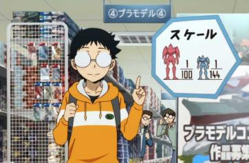 Onoda, personaje otaku de la serie Yowamushi pedal