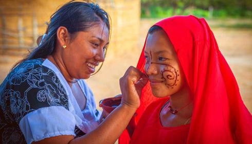 """""""Transformarte de colores"""", pintura corporal de pueblos ancestrales"""