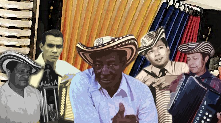 """Colacho Mendoza, Egidio Cuadrado, Calixto Ochoa y Luis Enrique """"el pollo"""" Martínez Reyes Vallenatos"""