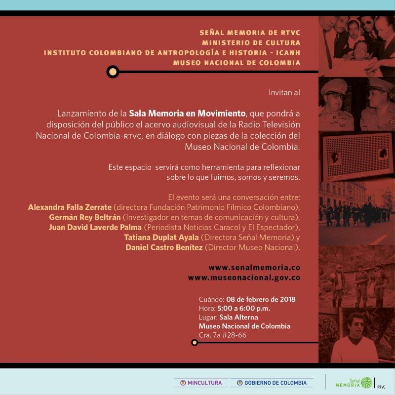 Invitación lanzamiento Sala Memoria en Movimiento