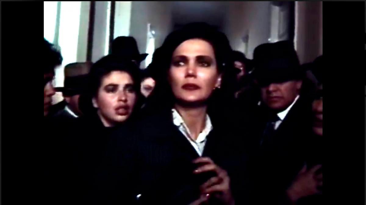 gloria zapata interpretando a Amparo Jaramillo de Gaitán en la miniserie El Bogotazo