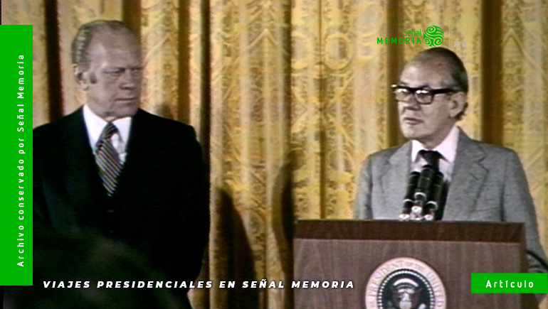 Visita presidencial de Alfonso López Michelsen a Gerald Ford.