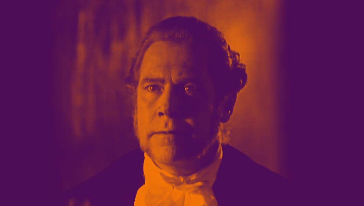 Julio Medina como el oidor Hernández de Alba