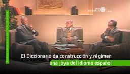 Arturo Abella, Marino Jaramillo y Horacio Bejarano, se refieren a la concepción del diccionario de construcción y régimen