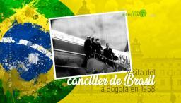 Visita del canciller de Brasil a Bogotá en 1958