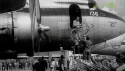 Avión en el que viajó la delegación colombiana para los juegos de 1956