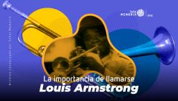 gráfica del trompetista Louis Armstrong