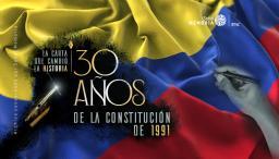 Gráfica que representa los 30 años de la Constitución de 1991