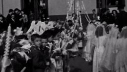 primeras comuniones en el Colegio de la policía Nuestra Señora de Fátima en los años 50