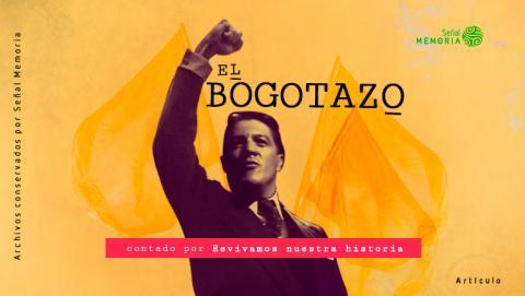 Poster de Edgardo Roman como Jorge Eliecer Gaitán en la miniserie El Bogotazo contado por Revivamos nuestra historia