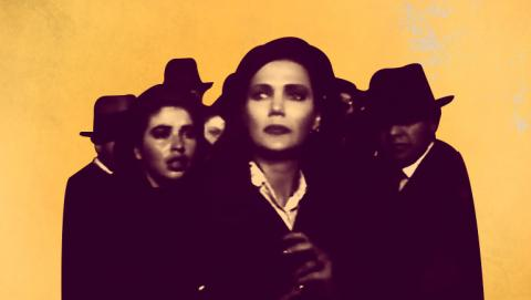 Poster de la actriz Gloria Zapata interpretando a la esposa de Gaitán, Amparo Jaramillo El Bogotazo contado por Revivamos nuestra historia