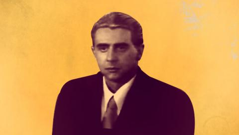 Poster de Victor Jaramillo interpretando a Mariano Ospina Perez en la miniserie El Bogotazo contado por Revivamos nuestra historia