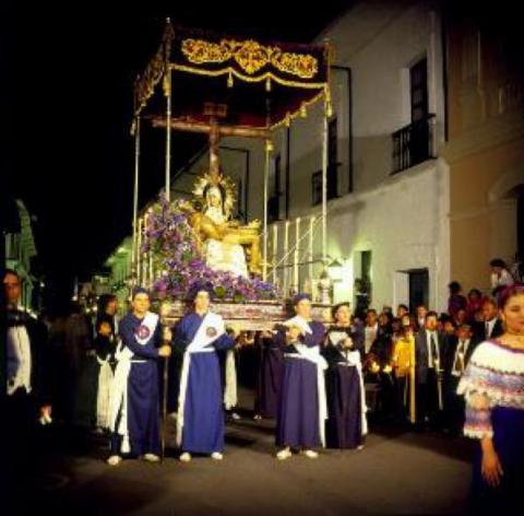 Imagen: Santo Ecce Homo, siglo XX, procesión del Miércoles Santo, Catedral Basílica de Nuestra Señora de la Asunción. Cortesía: Museo Nacional de Colombia.