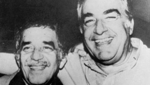 Foto: Archivo El Tiempo, Álvaro Mutis y Gabriel García Márquez