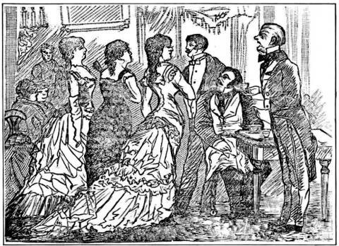 Un año en la Corte, grabado anónimo -  1881