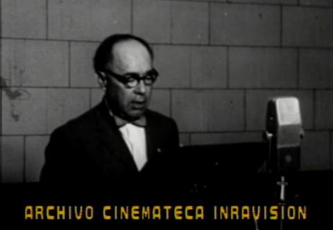 Locutor de la Radiodifusora Nacional de Colombia en 1960