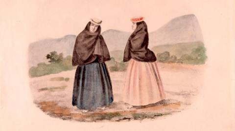 Ramón Torres Méndez. Bogotá-Mujeres del pueblo, 1872, cortesía www.lablaa.org