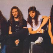 Metallica en 1991. (Jason Newsted, James Hetfield, Lars Ulrich y Kirk Hammet).