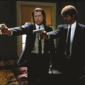 John Travolta y Samuel Jackson en Pulp Fiction. 1994.