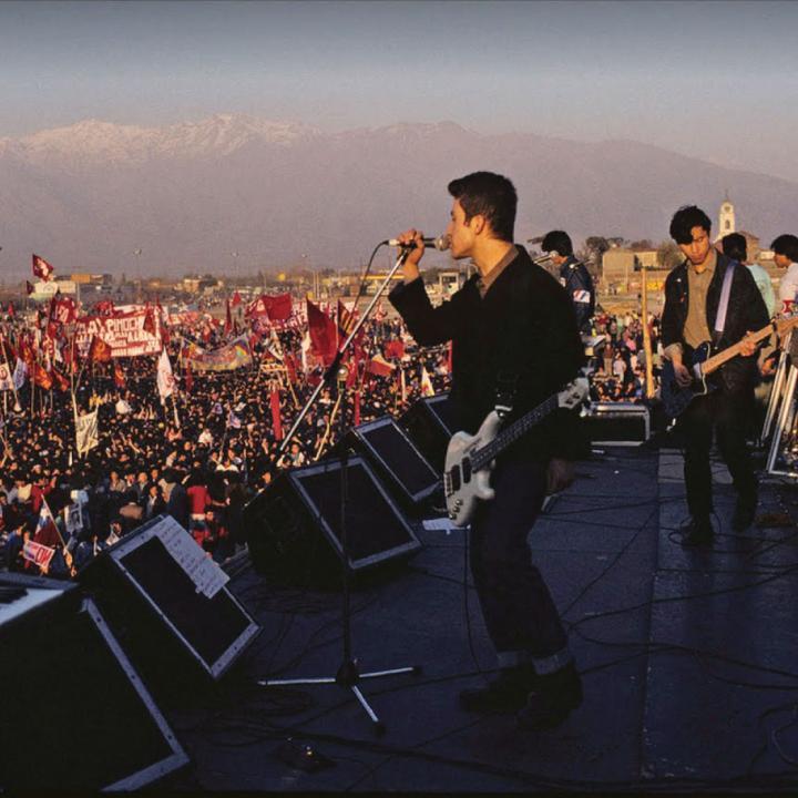Los Prisioneros en concierto en 1988. Foto tomada de Youtube.