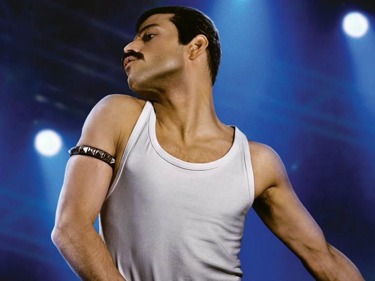 Rami Malek como Freddie Mercury. Foto tomada de Entertainment Weekly