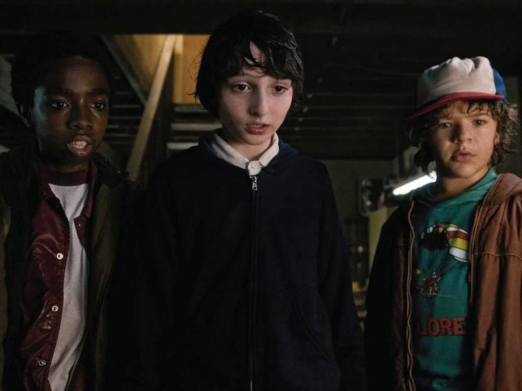 Lucas, Mike y Dustin, personajes de Stranger Things.