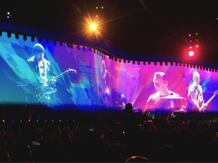 U2 en el estadio El Campín de Bogotá.