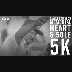 LaVell Edwards Memorial Heart & Sole 5k