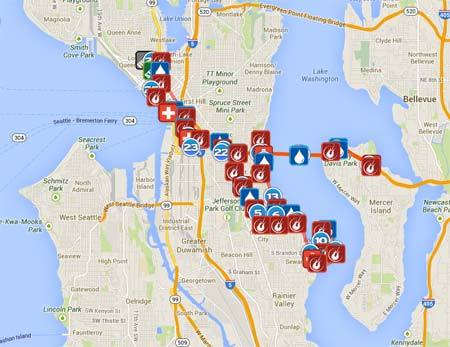Seattle rock n roll marathon course map