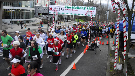 Foot traffic holiday half