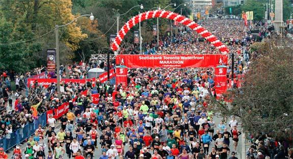 Scotiabank Toronto half marathon