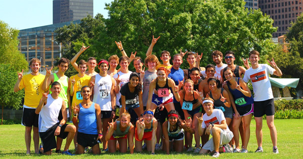 Texas running club team photo
