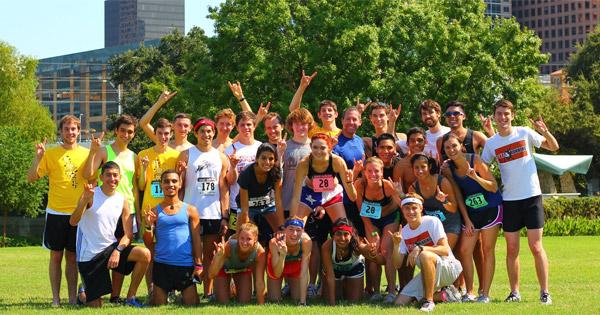 Texas running club team photo