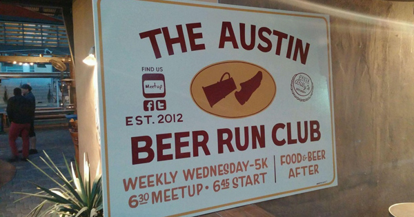 Austin Beer Run Club sign