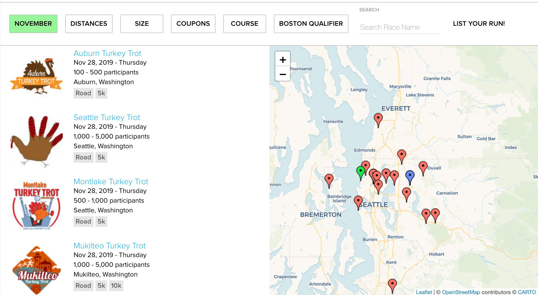Seattle Turkey Trot Map